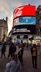 Shoppers in Piccadilly Circus 2016